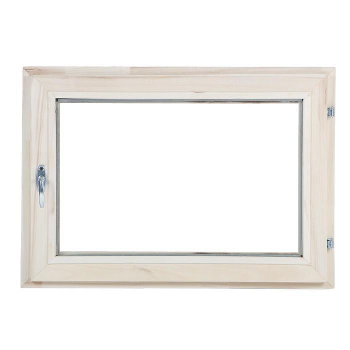 Окно, 50×70см, однокамерный стеклопакет, из липы