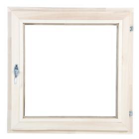Окно, 60×60см, двойное стекло, из липы