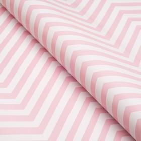 Бумага глянцевая, зигзаг, 49 х 70 см. Розовая