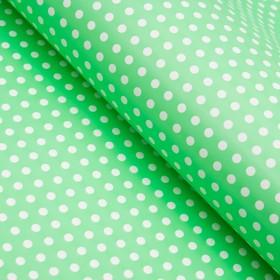 Бумага глянцевая, горох мелкий, 49 х 70 см. зелёная