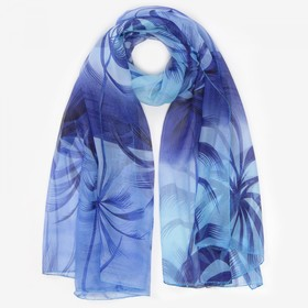 Парео текстильное, цвет сине-голубой, размер 95х155