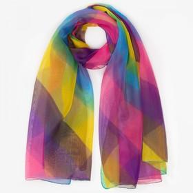 Парео текстильное, цвет разноцветный/полоса, размер 95х155