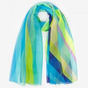 Парео текстильное, цвет бирюзовый, размер 95х155