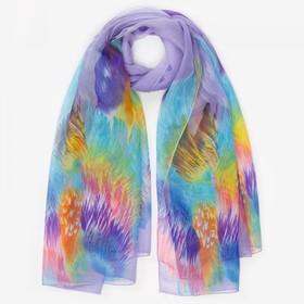 Парео текстильное, цвет сиреневый, размер 95х155