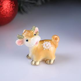 "Candle decorative ""Bull with snowflake"", mix, 7,5×4×6.2 cm"