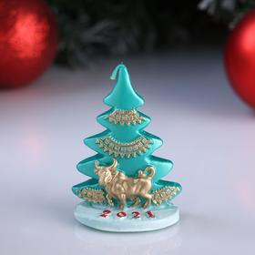 """Candle decorative """"Tree with the Golden bull"""" mix, 6×4×8 cm"""