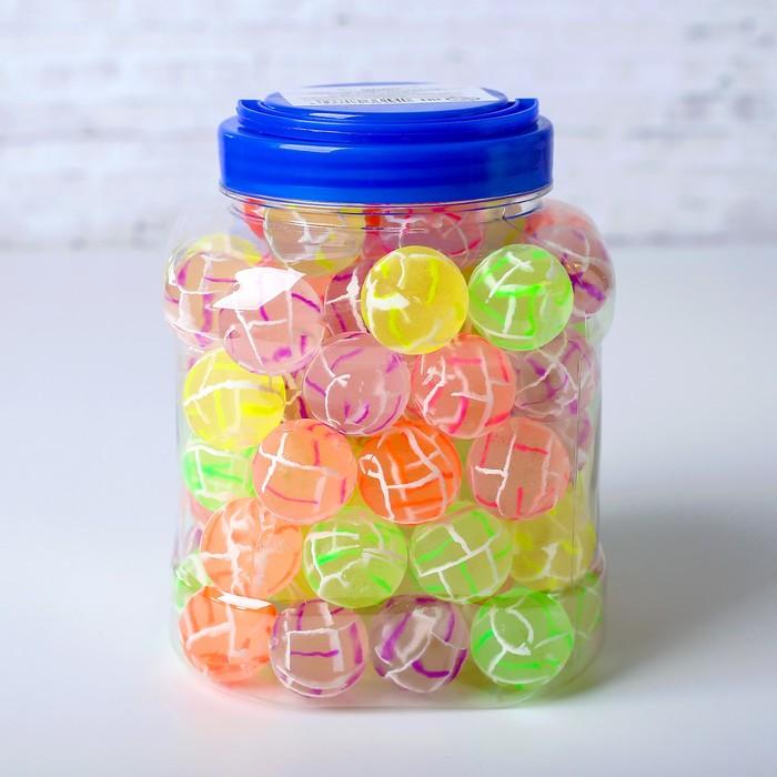 Мяч каучуковый «Полоски», в тубусе, цвета МИКС