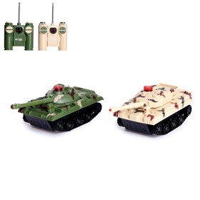 Танковый бой «Танковое сражение», на радиоуправлении, 2 танка, световые и звуковые эффекты