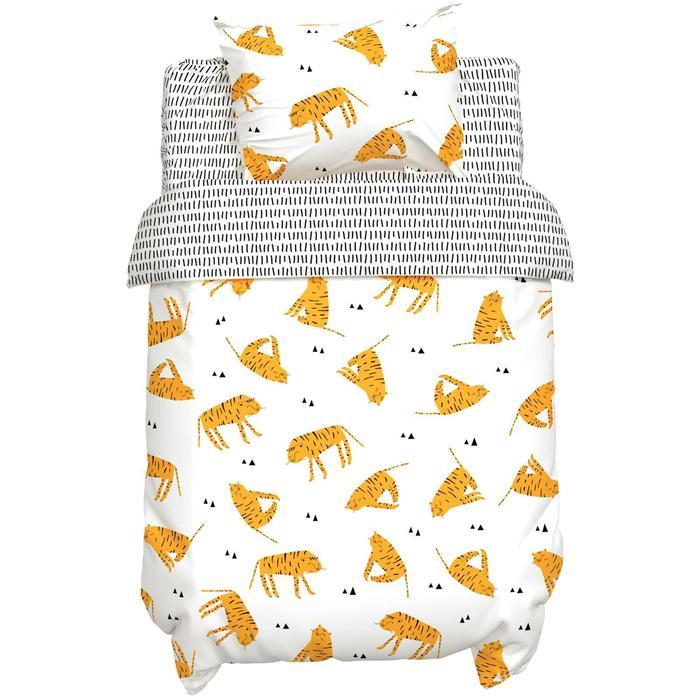 """Постельное белье """"Крошка Я"""" Тигры 112*147 см, 60*120+20 см, 40*60 см, 100% хлопок"""