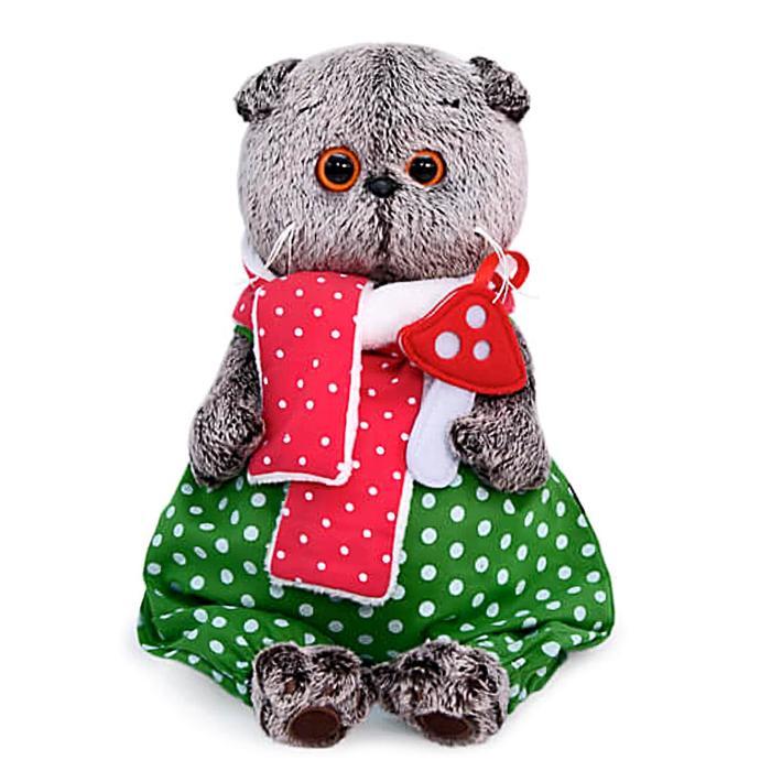 Мягкая игрушка «Басик с мухомором», 22 см - фото 1059077