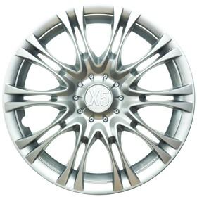 """Колпак колеса XPS16 R16 """"X5"""", серебристый металлик"""
