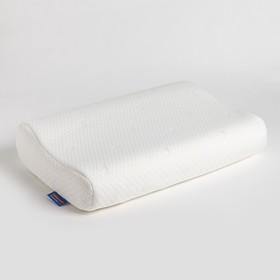 Подушка анатомическая Classic с эффектом памяти 33х52х9х11 см, джерси, ППУ, пэ 100%