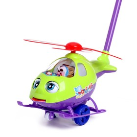 "Каталка на палке ""Вертолет"", цвета МИКС"