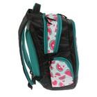Рюкзак школьный, Luris «Тайлер», 40 х 29 х 17 см, эргономичная спинка, «Арбузы», чёрный/белый - фото 742814