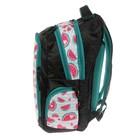 Рюкзак школьный, Luris «Тайлер», 40 х 29 х 17 см, эргономичная спинка, «Арбузы», чёрный/белый - фото 742815