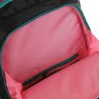 Рюкзак школьный, Luris «Тайлер», 40 х 29 х 17 см, эргономичная спинка, «Арбузы», чёрный/белый - фото 742819