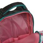 Рюкзак школьный, Luris «Тайлер», 40 х 29 х 17 см, эргономичная спинка, «Арбузы», чёрный/белый - фото 742821
