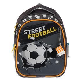 Рюкзак каркасный, Luris «Джерри 4», 38 х 28 х 18 см, 3D-рисунок, «Футбол»