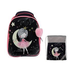 Рюкзак каркасный, Luris «Джой 1», 38 х 30 х 17 см, наполнение: мешок для обуви, «Девочка»
