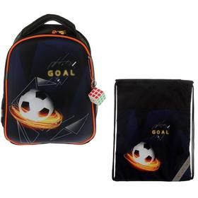 Рюкзак каркасный, Luris «Джой 1», 38 х 30 х 17 см, наполнение: мешок для обуви, «Футбол»