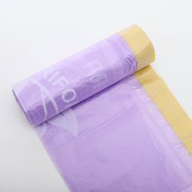 Мешки для мусора с завязками особопрочные, ароматизированные, 60 л, 60×68 см, 13 мкм, ПНД, 10 шт, цвет МИКС
