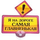 """Табличка на присоске """"Я на дороге самая главненькая"""""""