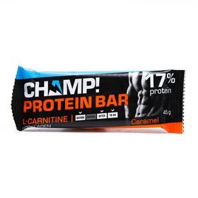 Батончик CHAMP протеиновый Карамельный 45г