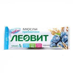 Батончик-мюсли ЛЕОВИТ с черникой и лютеином 30г