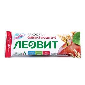 Батончик-мюсли ЛЕОВИТ с яблоком и семенами льна 30г