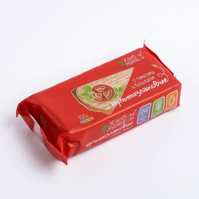 Хлебцы Хлебцы-Молодцы  Мультизлаковые с томатами и базиликом 100г - фото 15088