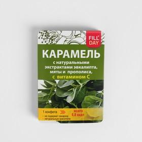 Карамель с изомальтом с экс-ми эвкалипта, мяты и прополиса, с витамином С блистер 16г