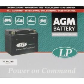 Аккумулятор Landport YTX4L-BS, 12В, 3 Ач, обратная (- +)