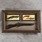 The product is the souvenir in a frame: rifle, musket, knife 80*48cm
