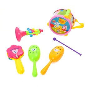 """A set of musical instruments """"Bears in the orchestra"""", 6 items"""