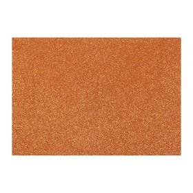 Картон дизайнерский Glitter (с блестками) 210 х 297 мм, Sadipal 330 г/м², медь, цена за 3 листа