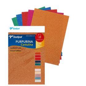 Картон дизайнерский набор, 210 х 297 мм, Sadipal Glitter (с блестками) Deep, 330 г/м², 5 листов х микс 5 цветов