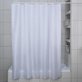Штора для ванной комнаты «Бриллиант», 180×180 см, полиэстер, цвет белый