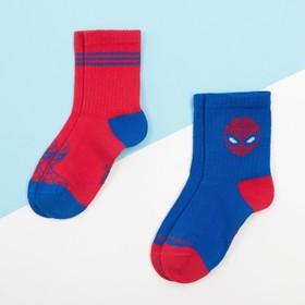 """Набор носков """"Человек-Паук"""" 2 пары, красный/синий, 18-20 см"""