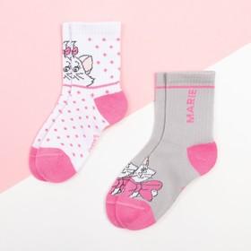 """Набор носков """"Marie"""", Коты аристократы 2 пары, белый/серый, 12-14 см"""
