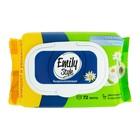 Влажная туалетная бумага Emily Style, растворяющаяся, с крышкой 72 шт - фото 7461677