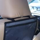 Органайзер под планшет на спинку сиденья автомобиля, оксфорд, 30х55, цвет серый - фото 7461693