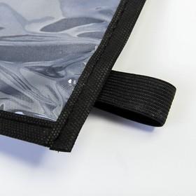 Органайзер под планшет на спинку сиденья автомобиля, оксфорд, 30х55, цвет серый - фото 7461695