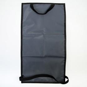 Органайзер под планшет на спинку сиденья автомобиля, оксфорд, 30х55, цвет серый - фото 7461696