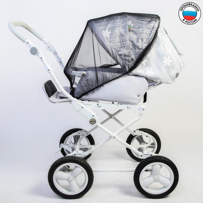 Москитная сетка на коляску, 90х100, цвет черный - фото 105545894