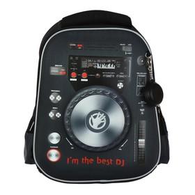 Рюкзак каркасный Hatber Ergonomic light 38 х 29 х 16, для мальчика Best DJ, чёрный