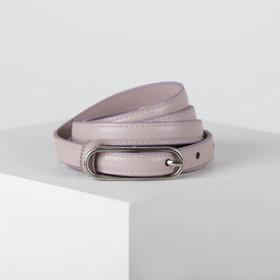 Ремень женский, ширина 1,5 см, пряжка металл, цвет розовый