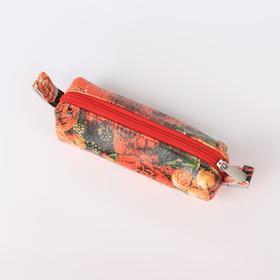 Ключница, отдел на молнии, металлическое кольцо, цвет красный