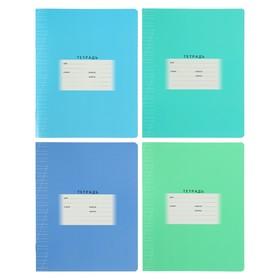 Тетрадь 12 листов в косую линейку, обложка мелованный картон, МИКС