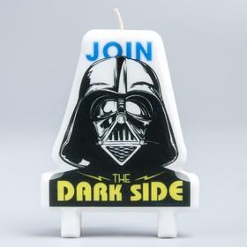 """Свеча в торт """"Переходи на тёмную сторону!"""", Дарт Вейдер, 75х100"""