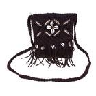 сумочка женская Вязка цветок 15*18см с ремешком